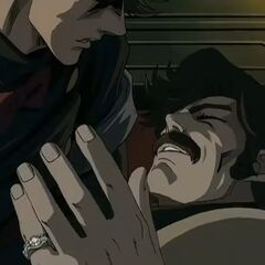 George Joestar, dead in his son's arms.