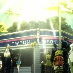 Okuyasu and the others bid Reimi farewell.