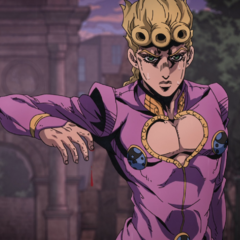 Giorno using Polnareffs blood technique