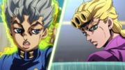 Koichi uses Echoes on Giorno