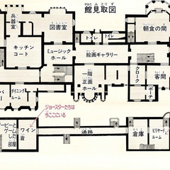 Layout of the first floor and the basement