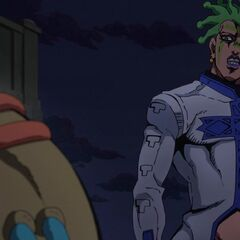 Cioccolata talking to Secco.