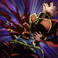 Pearl Jam <i>repairing</i> Okuyasu's intestinal problems