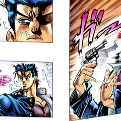 Star Platinum catches a bullet