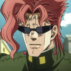Kakyoin wearing his sunglasses