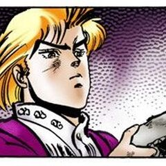 Дио держит Каменную Маску