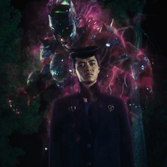 Josuke with his Stand, <a href=