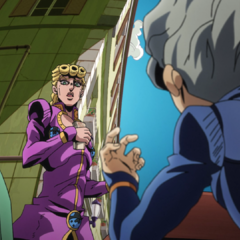 Giorno getting caught by Koichi