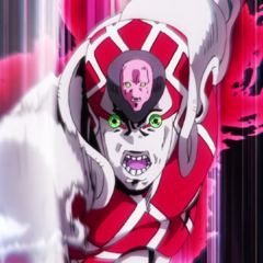 About to chop Polnareff's head in half