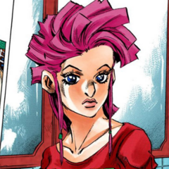 Close-up look of Trish's first outfit