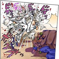 I Am a Rock's ability crushing Josuke