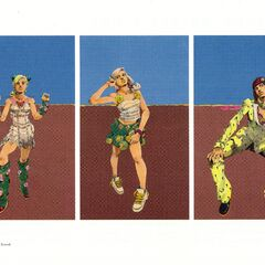 Exhibition canvas: Jolyne, Yasuho and Bruno