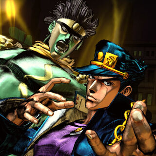Star Platinum and Jotaro in <i>All Star Battle</i>