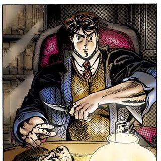 Jonathan studying the Stone Mask