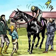 Nicholas's horse led by <a href=