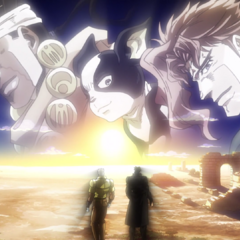 Jotaro and Joseph reflect on their journey and lost comrades