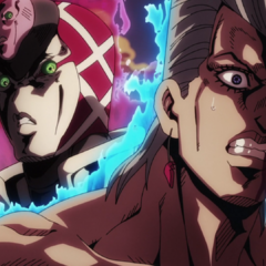 Appearing behind Polnareff