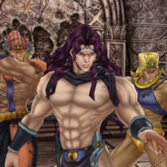 Esidisi with the other Pillar Men, <i><a href=