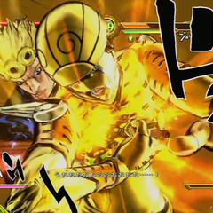 Giorno executing his GHA, <i>ASB</i>