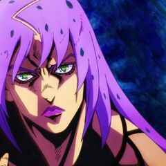 A clear view of Diavolo's face in the second version of the opening.