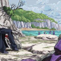 Сидящий Абаккио после нападения