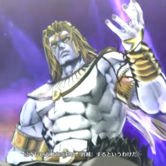 DIO prepares to kill Jotaro.
