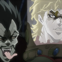 Dio's severed head held by <a href=