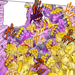 Star Platinum meets fists with <a href=