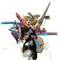 Araki's Illustration of Ark Angel