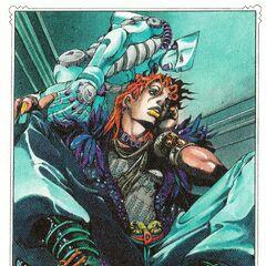JoJo's Bizarre Adventure Over Heaven (Внутренняя Иллюстрация)