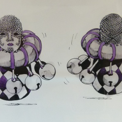 Figure design drawn by Araki for Battle Break:Trading Figure Battle (2011)