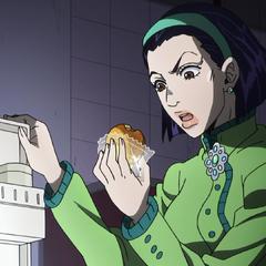 Томоко обвиняет Джоске в том, что тот съел её пирожок