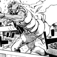 Ojiro runs towards Makorin's condo, panicking