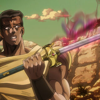 Чака подбирает меч