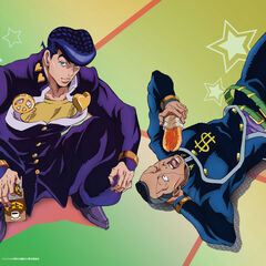 Promo Art of Josuke and Okuyasu