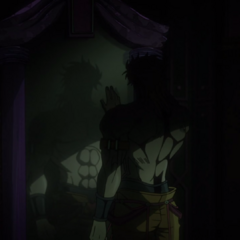 DIO gazes upon his reflection
