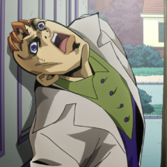 Kinoto sliding on Rohan's door to hide his back.