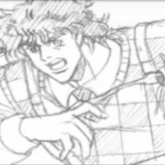 Joseph during his spaghetti battle when first meeting Caesar
