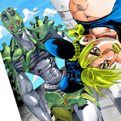 After fusing with the Green Baby, Whitesnake appears behind <a href=