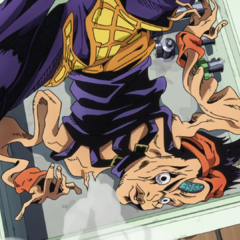 Moody Blues (as Narancia) completely deflated by Soft Machine's ability