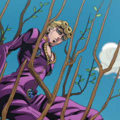 Giorno growing a tree to escape <a class=