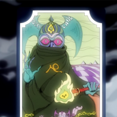 Tarot card representing The Devil