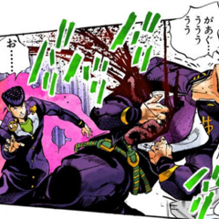 Pearl Jam ejects Okuyasu's intestines...