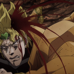 DIO, fatally injured and trying to retreat