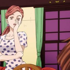 Shinobu waits for Kira to return home, unaware of his death.