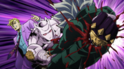 Kira punches through Koichi