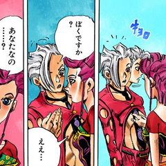 Fugo asked by Trish to take off his shirt