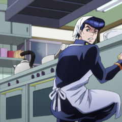 Being forced to clean Tonio's kitchen as payment for contaminating it.