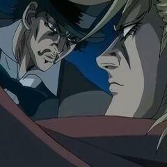 Zeppeli, attacking Dio.