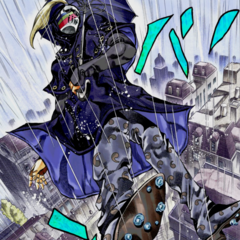 Utilizing his Stand, <a href=